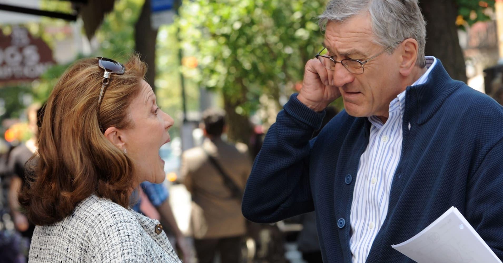 "Actors Robert De Niro  and Linda Lavin on the set of ""The Intern"""