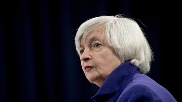 Janet Yellen, chair of the U.S. Federal Reserve, listens to a question during a news conference following a Federal Open Market Committee (FOMC) meeting in Washington, D.C., U.S., on Wednesday, Dec. 13, 2017.