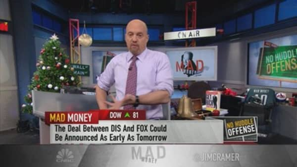 Cramer says Fox deal will give Disney the scale it desperately needs
