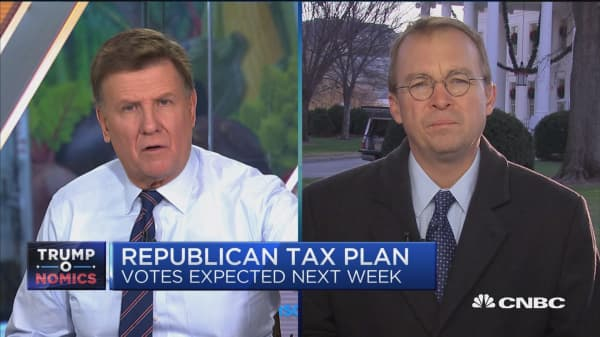 Look at the big picture on taxes: OMB's Mick Mulvaney