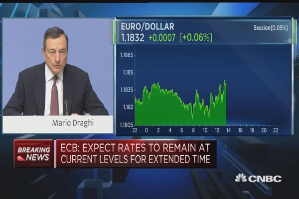 Draghi: Core inflation to rise gradually in medium term