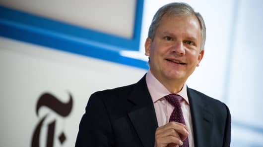 Arthur Sulzberger Jr., chairman of The New York Times Co., speaks during the New York Times DealBook conference in New York.