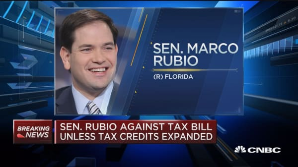 Sen. Marco Rubio against tax bill unless tax credits expanded