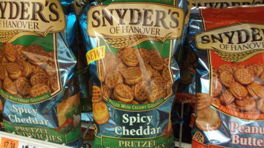 Snyder's Lance pretzel snacks