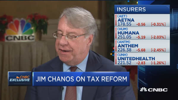 Kynikos' Jim Chanos: 'Winter is coming' for health care stocks on tax bill