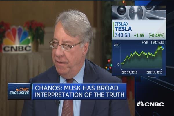 Kynikos' Jim Chanos: Tesla's Elon Musk has a broad interpretation of the truth