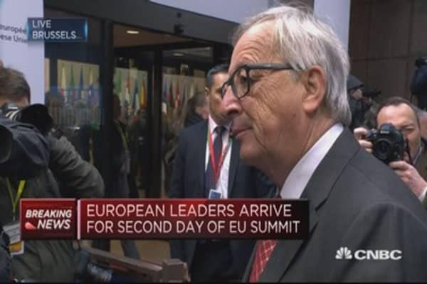 UK PM May's big effort needs to be recognized: EU's Juncker