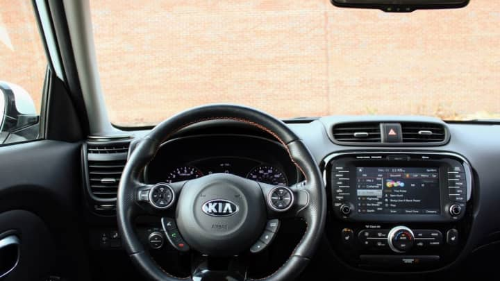 The driver seat of the 2017 Kia Soul
