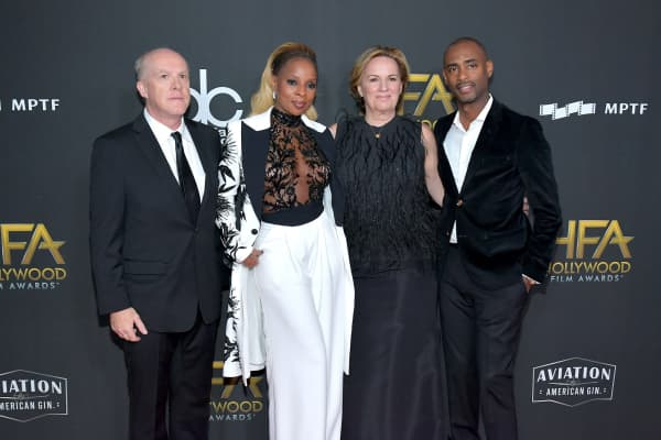 Producer Cassian Elwes, honoree Mary J. Blige, producer Kim Roth, and producer Charles D. King attend the 21st Annual Hollywood Film Awards