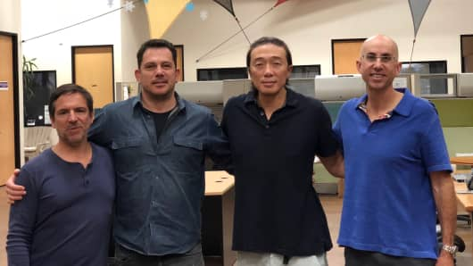 Luna DNA's founding team Bob Kain, David Lewis, Dan Lin and Michael Witz in San Diego, California