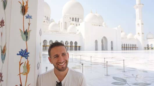 Sal Lavallo, a professional world-traveler, in the United Arab Emirates.