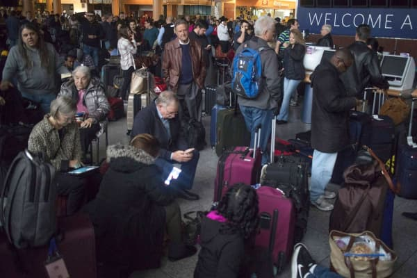 A power outage at the Hartsfield-Jackson Atlanta International Airport on Dec. 17, 2017, grounded scores of flights and passengers during one of the busiest travel times of the year.
