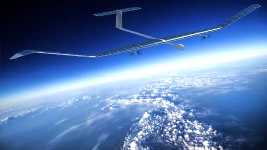 A rendering of how the latest version of Zephyr will look in flight.