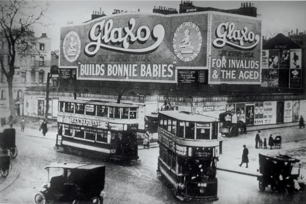 A historical ad for baby product Glaxo