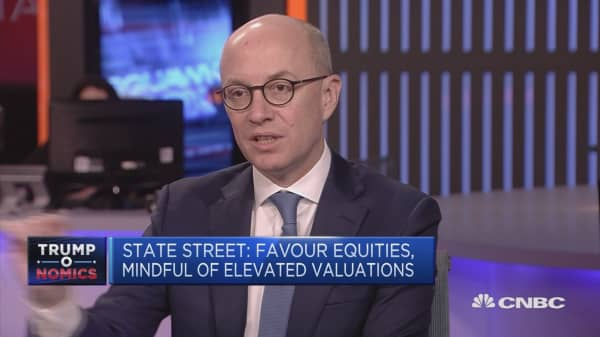 State Street: Favor equities, mindful of elevated valuations