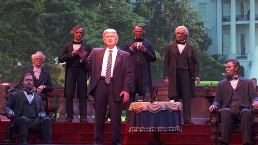 Walt Disney World now features President Donald Trump as an animatronic robot in Disney's Hall of Presidents.