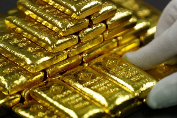 Gold bars at the Austrian Gold and Silver Separating Plant in Vienna, Austria, December 15, 2017.