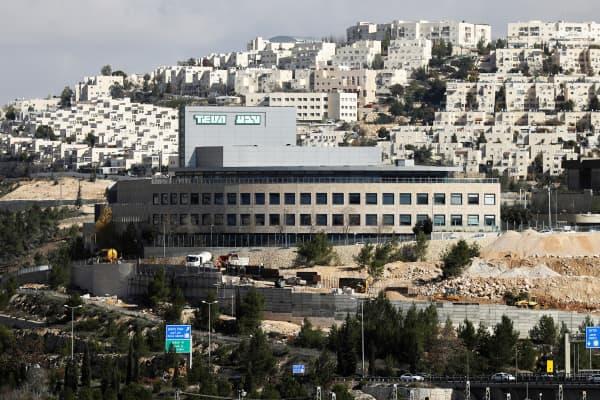 A Teva Pharmaceutical Industries building is seen in Jerusalem December 14, 2017.