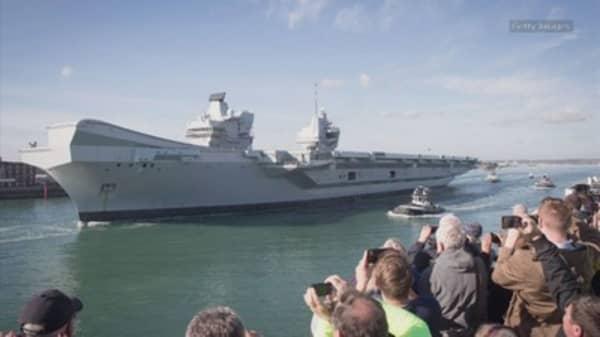 Britain's new $4 billion warship has a leak