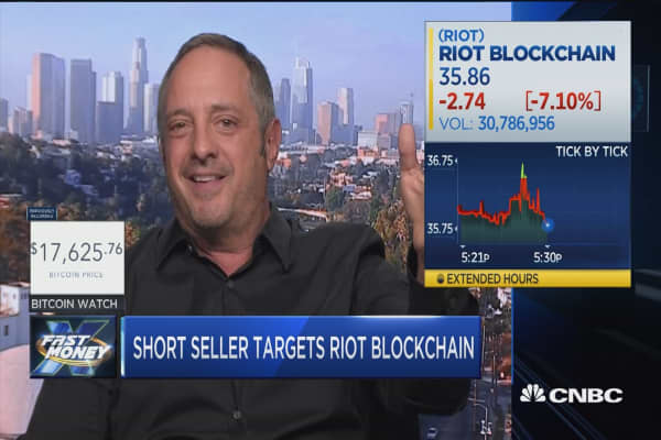 Short seller Andrew Left has a new crypto-related target