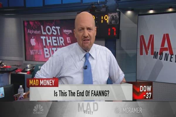 Cramer reviews the bear case for FANG stocks