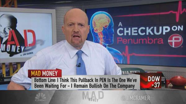 Cramer says medical-device maker Penumbra is a 'broken stock'