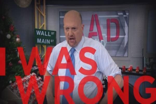 Cramer Remix: I'm ashamed of my GE recommendation
