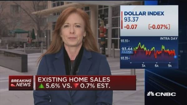Existing home sales up 5.6% in November