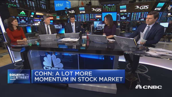 Gary Cohn: A lot more momentum in the stock market