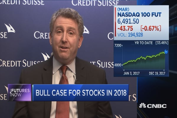 One of Wall Street's biggest bulls sees more record highs in 2018