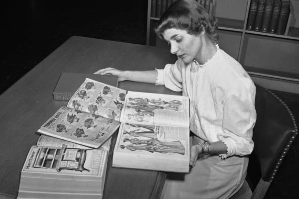 In this August 26, 1948 file photo, Ruth Parrington, librarian in the art department of the Chicago Public Library,
