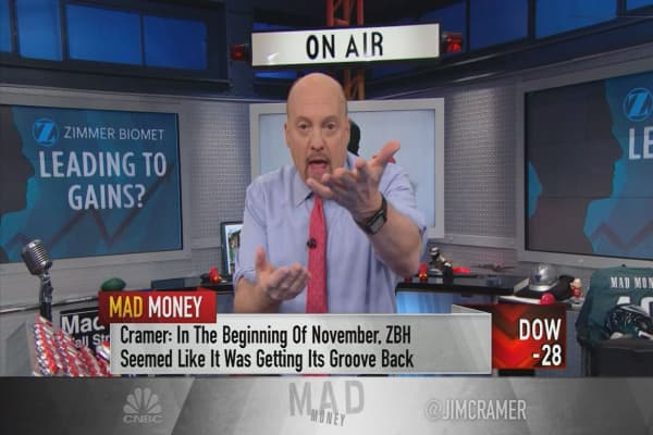 Cramer says Zimmer Biomet is becoming a buy thanks to its new CEO