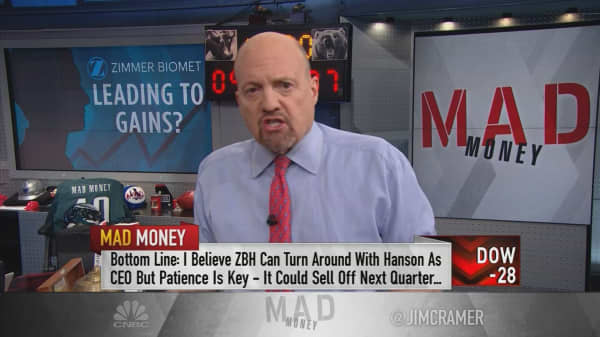 Cramer: Zimmer Biomet becoming a buy thanks to new CEO