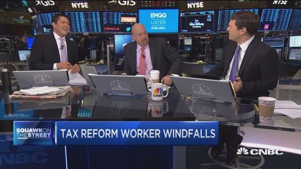 Tax reform triggers worker windfalls