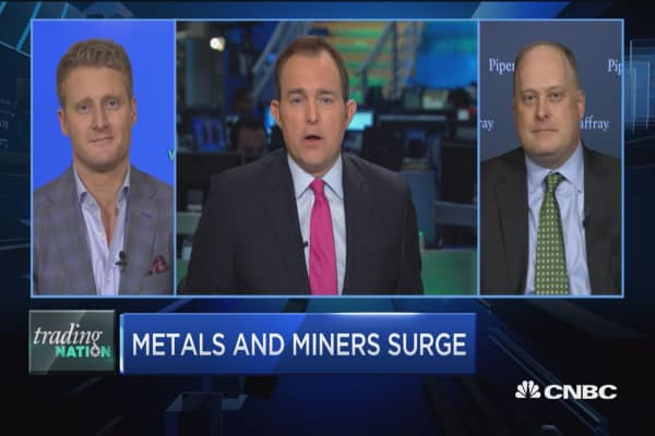 Trading Nation: Metals and miners surge