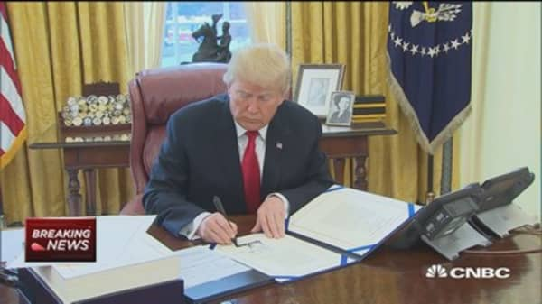 President Trump signs missile and funding bills