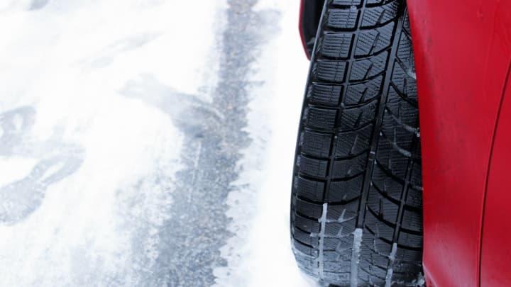 Snow tires provide extra grip