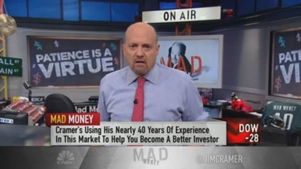 Cramer: Never buy a stock all at once—you'll get burned