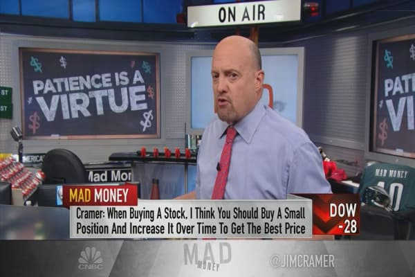Cramer: Never buy a stock all at once—you'll almost definitely get burned
