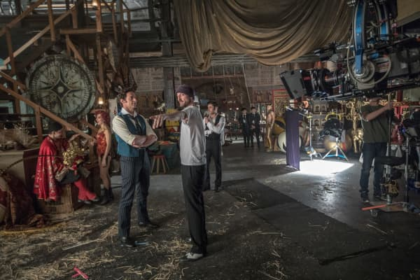 "Hugh Jackman on the set of ""The Greatest Showman"""