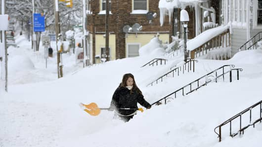Image result for Erie, Pennsylvania, pummeled by record 5 feet of snow