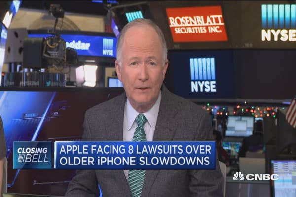 Apple facing 8 lawsuits over older iPhone slowdowns