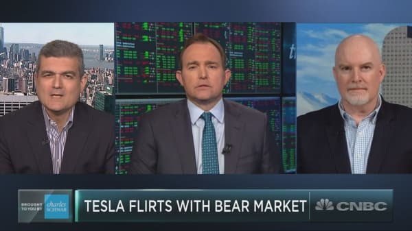 Tesla's back in a bear market. Do you dare buy?