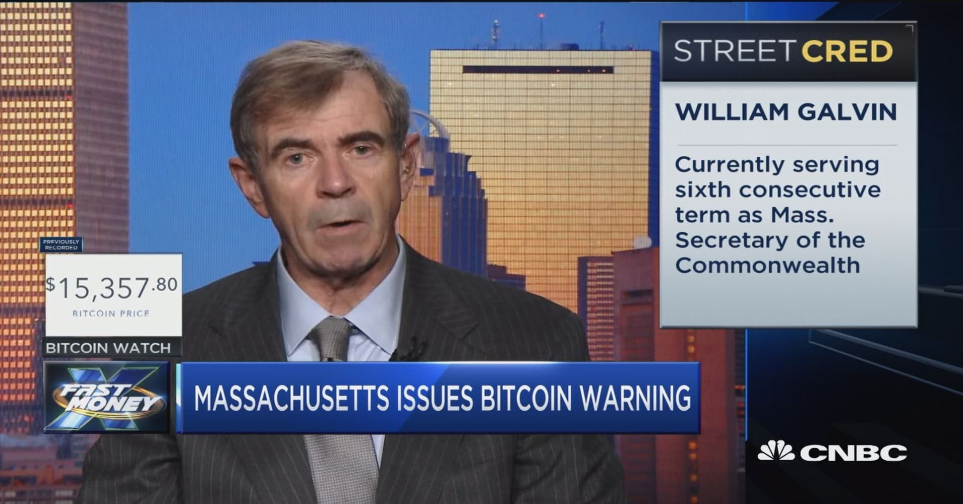 Massachusetts' Secretary of Commonwealth speaks out on the dangers of bitcoin