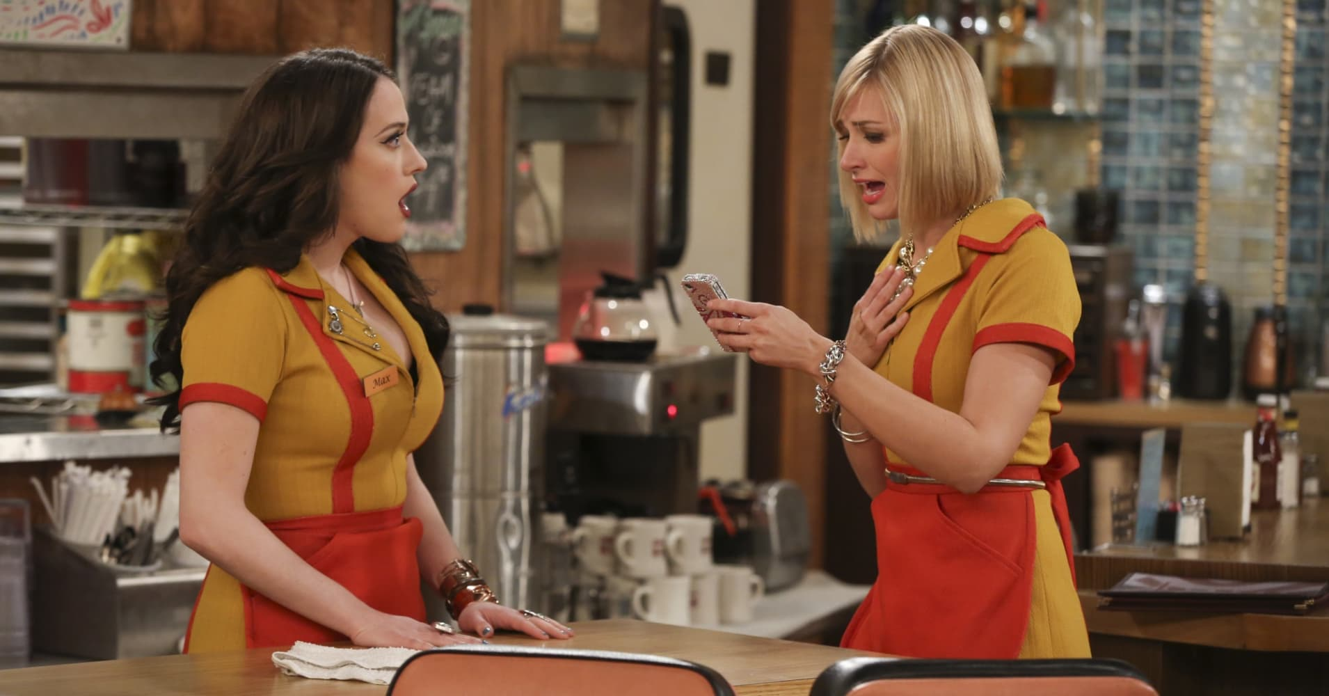 """2 Broke Girls"" on CBS."