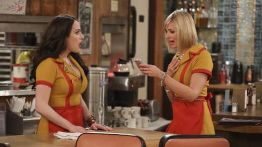 """2 Broke Girls"" on CBS."