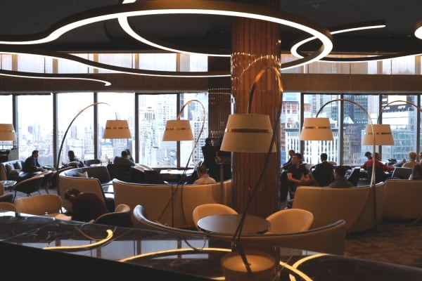 The Aviary NYC offers views of Columbus Circle from the 35th floor of The Madarin Oriental hotel.