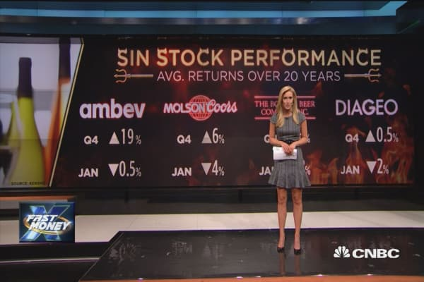 Sin stocks sizzled in 2017, and here are the big winners