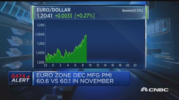 Euro will see further strength in 2018, analyst says