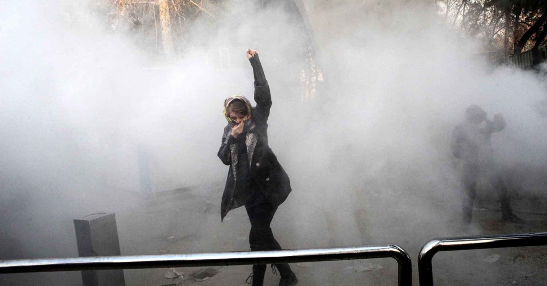 Iran protest Map of the worst clashes